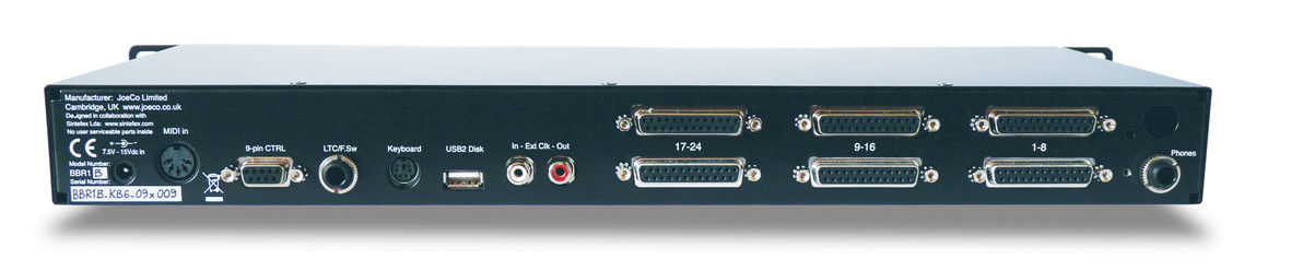 JoeCo Blackbox Recorder - BBR1B - Rear Panel