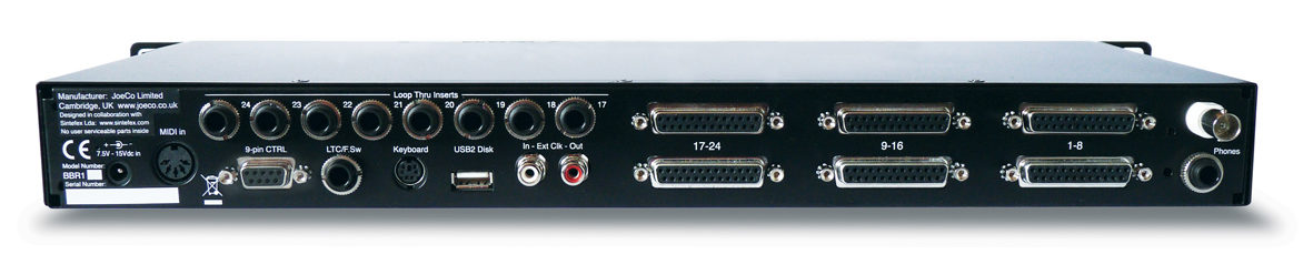 JoeCo Blackbox Recorder - BBR1D - Rear Panel