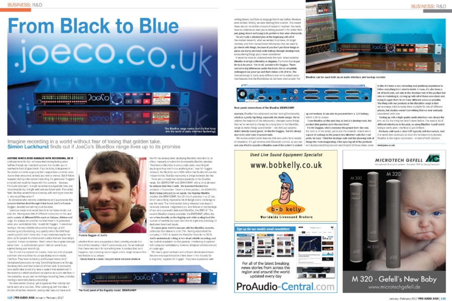 BLUEBOX in Pro Audio Asia