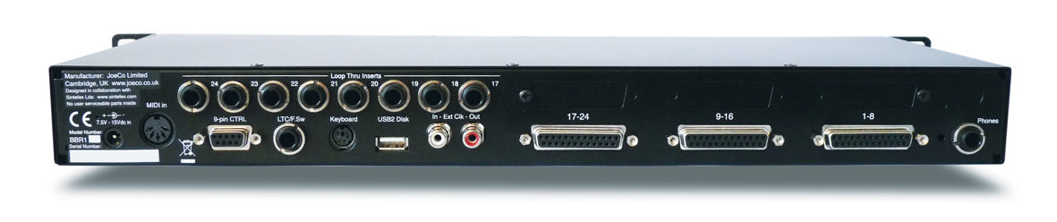 JoeCo Blackbox Recorder - BBR1U - Rear Panel